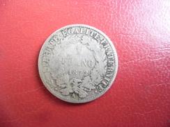 1 FRANC CERES ARGENT 1872 Grand A (rare) @ F. 216.4 - Francia