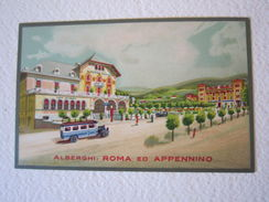 Cartolina Locale '900 Alberghi Roma Appennino Borgotaro Parma - Parma