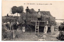 EN BEAUCE-LE BATTAGE DU GRAIN-TRES BON ETAT - France
