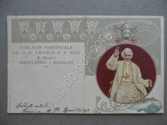 Cartolina Jubilaeum Pontificale Leone XIII Papa 1902 - Cartoline