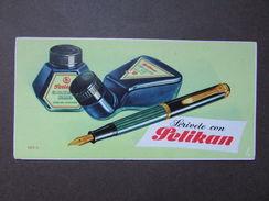 Cartoncino Pubblicitario Pelikan Originale Inchiostri Stilografica 1940 Grafica - Non Classificati