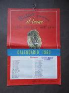 Calendario 1960 Pubblicità Bisleri Leone Storia Arte Milano - Calendari