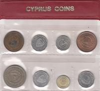 CHYPRE   KIBRIS  CYPRUS  Série De 8 Pièces De 1960 à 1987 - Cipro