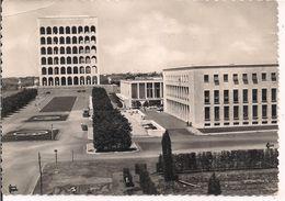 """ROMA - ZONA DELL'ESPOSIZIONE - EUR - 1956,B/N ANIMATA, TIMBRO POSTE ROMA EUR """"XXV CONGRESSO NAZIONALE P.R.I."""" - Mostre, Esposizioni"""
