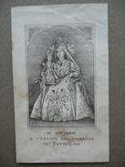 Santino Terzo Centenario Beata Vergine Carmine Formigine Modena 1883 Incisione - Altre Collezioni