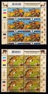 RSA, 2001, MNH Stamps In Control Blocks, MI 1386-1389, Kgalagadi Trans Frontier Park,  X767 - Zuid-Afrika (1961-...)