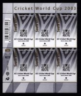 RSA, 2001, MNH Stamps In Control Blocks, MI 1454, ICC Cricket World Cup ,  X685 - Ongebruikt