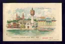 Carte Postale Exposition Lefevre Utile, Paris 1900. Grand Prix. Carte Transparente  (Ref. 112632) - Expositions