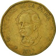 Dominican Republic, Peso, 1992, TB+, Laiton, KM:80.2 - Dominicana
