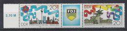 Germany (DDR) 1989  FDJ, Berlin (**) Mi.3248-3249 - [6] República Democrática