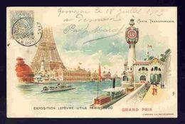 Carte Postale Exposition Lefevre Utile, Paris 1900. Grand Prix. Tour Eiffel. Carte Transparente  (Ref. 112633) - Expositions