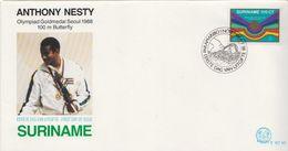 Surinam Stamp On FDC - Summer 1988: Seoul