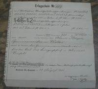 DOKUMENT: Erlagschein/ 1901 - Austria