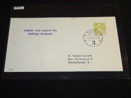 Denmark 1963 Allborg-Hadsund Cover_(L-498) - Covers & Documents