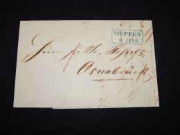 Germany 1853 Meppen Letter_(L-1715) - Germania