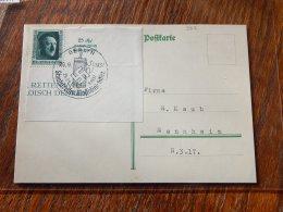 Germany 1937 Hittler Stamp Card_(L-362) - Germany