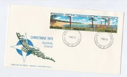 1979 NORFOLK ISLAND FDC CHRISTMAS  Stamps Cover - Norfolk Island