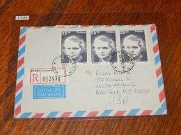 Poland 1982 R-Cover To USA_(L-437) - Storia Postale