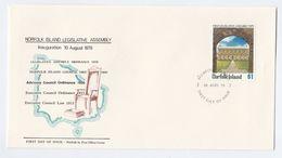 1979 NORFOLK ISLAND FDC Legislative ASSEMBLY Cover Stamps - Norfolk Island