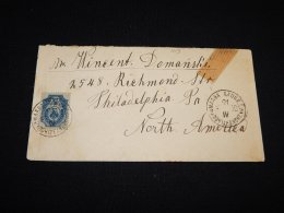 Russia 1900 10kop Blue Cover To USA_(L-1113) - 1857-1916 Empire