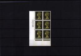 Great Britain Pre Decimal Machin Stamps 1 D Cylinder Block Nr. 6 MNH - 1952-.... (Elizabeth II)