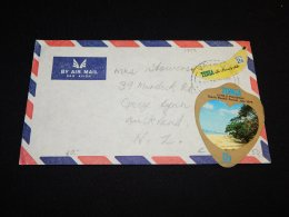 Tonga 1976 Air Mail Cover To New Zealand_(L-1352) - Tonga (1970-...)