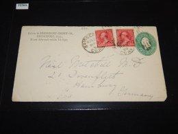 USA 1892 Bridgeport Stationery Cover To Hamburg_(L-582) - Briefe U. Dokumente
