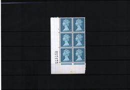 Great Britain Pre Decimal Machin Stamps 8 D  2B Cylinder Block Nr. 3 PVA  MNH - 1952-.... (Elizabeth II)