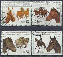 Germany (DDR) 1989 Kongress Fur Pferde (o) Mi.3261-3264 - [6] Democratic Republic