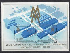 Germany (DDR) 1989 Leipziger Herbstmesse (**) Mi.3267-3268 (block 99) - DDR