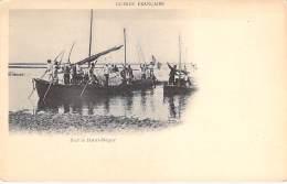 AFRIQUE NOIRE  - GUINEE FRANCAISE : Barques Sur Le Haut Niger  - CPA Précurseur - Black AFRICA - Guinée Française
