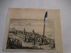 Lessen - Lessines - De Stadskern :  Kaart Uit Sanderus 1735 - Lessines