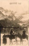 D65  GAVARNIE    .....  (1922) ( Avec âne Et Mule)  Carte Photo - Gavarnie