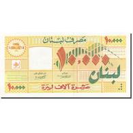 Lebanon, 10,000 Livres, 1998-1999, KM:76, 1998, SPL - Liban