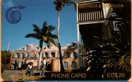 Antigua & Barbuda - ANT-3C, Nelsons Dockyard, 3CATC, 15.000ex, 1990, Heavily Used As Scan - Antigua And Barbuda