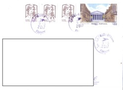 21A: Architecture Buildings France Portugal Joint Issue Stamps Used On Cover - France