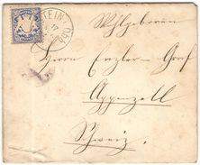 BAYERN - 1884 - 20 Pf - Viaggiata Da Stein Per Appenzell, Schweiz - Bayern (Baviera)