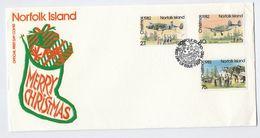 1982 NORFOLK ISLAND FDC RNZAF AIRCRAFT Christmas Cover Stamps Aviation Flight - Norfolk Island