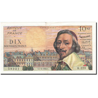 France, 10 Nouveaux Francs, 1959, 1962-06-07, KM:142a, TTB, Fayette:57.19 - 1959-1966 Nouveaux Francs