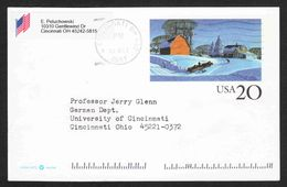 United States - Scott #UX241 Used - Entiers Postaux