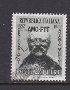 Trieste Allied Military Government S 161 1952 Birth Centenary Of Mancini, MNH - 7. Trieste