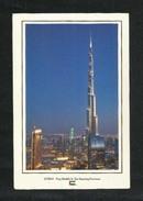 United Arab Emirates UAE Dubai Picture Postcard Aerial View Dubai Burj Khalifa & Dancing Fountain View Card U A E - Dubai