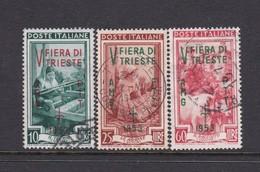 Trieste Allied Military Government S 178-180 1953 5th Trieste Fair Used - 7. Trieste