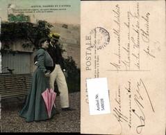 548028,Liebe Liebespaar Paar Schirm Mann Hut Kleid Anzug - Paare