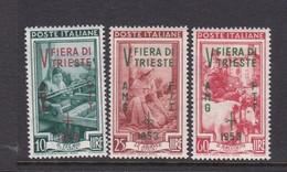 Trieste Allied Military Government S 178-180 1953 5th Trieste Fair, MNH - 7. Trieste