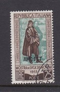 Trieste Allied Military Government S 186 1953 5th Birth Centenary Of Signorelli Used - 7. Trieste