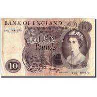 Grande-Bretagne, 10 Pounds, Undated (1965-1975), KM:376c, TB - 1952-… : Elizabeth II