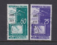 Trieste Allied Military Government S 196-197 1954 Television, Used - 7. Trieste