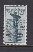 Trieste Allied Military Government S 199 1954 Milan-Turin Helicopter Flight Mail, Used - 7. Trieste