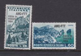 Trieste Allied Military Government S 201-202 1954 6th Trieste Fair, MNH - 7. Trieste